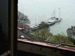 Aussicht aus Urs Peter Schneiders Haus auf den Bielersee